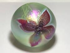 Signed 1989 Glasshouse studio art glass paper weight