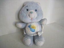 "11"" Vintage Care Bears ~ BABY TUGS BEAR Blue Wears Diaper Plush Stuffed Animal"