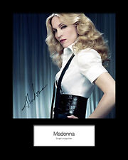 MADONNA #3 Signed Photo Print 10x8 Mounted Photo Print - FREE DELIVERY