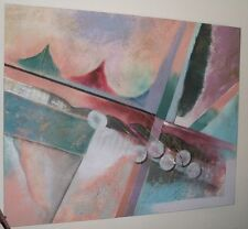 ABSTRACT OIL ON CANVAS PAINTING 4' x 5'  Isaac Hayes Estate Personal Item