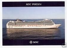 MSC POESIA... cruise ship..  MSC Crociere post card ... At Sea  profile