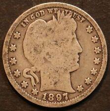 1897 Circulated Barber Quarter