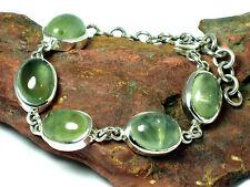 PREHNITE   Sterling  Silver  925   Gemstone  BRACELET  -  Gift Boxed