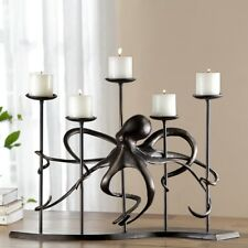 Unique Octopus 5 Cup Candelabra Candle Holder Table Centerpiece Nautical Decor