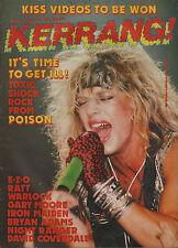 Bret Michaels of Poison on Kerrang Magazine Cover No:144 1987    David Coverdale