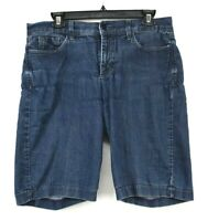 NYDJ Womens Medium Denim Button & Zip Cotton Stretch Summer Casual Shorts 10