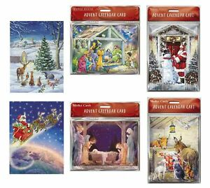 Medici Small Advent Calendar Cards with envelope 24 doors 151 x 203