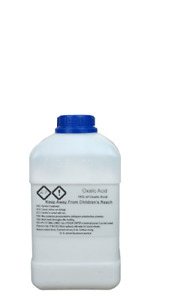 Oxalic Acid Crystals 99.6% - Rust Remover REAL TEST PHOTO