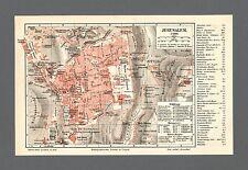 Stadtplan von Jerusalem in Israel um 1907