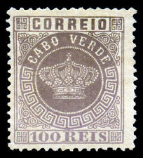Cape Verde, Portugal. 1877. 100r. Lilac. SC# 7. Perf 12 1/2. MNG