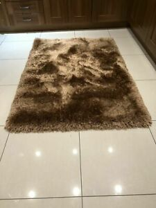 SALE Extra Thick Pearl Gold Shaggy Rug in various sizes