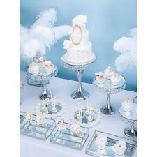 Wedding Party Crystal Mirror Cake Stand Display Dessert Holder Tableware Decor