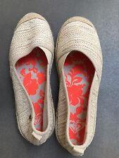 ROXY Espadrilles /flats /shoes/sneakers Size 7.5 Natural Jute Vgc
