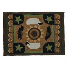 Sheep with Bird Hand-Hooked Rug by Park Designs