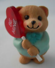 Hallmark Merry Miniature Bear&Lollipop Heart Figurine Sweet Valentine Be Mine #1