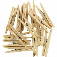 Premium  12  WOODEN CLOTHES PEGS - Pins -  72mm Long - Free Post - Long Lasting