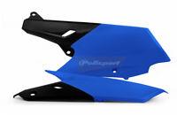 YAMAHA Side Panels YZF 250 - 450 - 2014 /15/16 /17 Blue - Black  POLISPORT