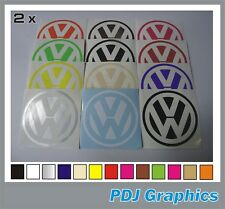 2 X VW logo tipo Cut Vinyl Adesivi Badge si adatta GOLF T4 T5 T6 100 mm Auto Van