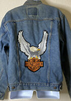 Vtg Levi's Men Size M Denim Harley Davidson Trucker Jacket 1989