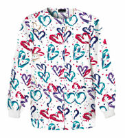 Cherokee Women's Snap Front Long Sleeve Warm Up Nursing Scrub Jacket. 350
