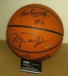 MICKAEL JORDAN +BILL RUSELL AUTOGRAPH BASKETBALL  W/COA