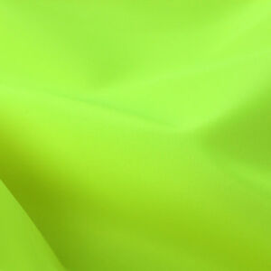 HI-VIZ YELLOW Waterproof 4oz Fabric Various Uses SOLD BY THE METRE Free DELIVERY