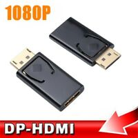 DP to HDMI Male to Female Adapter Converter For HDTV 1080P Video PC Laptop