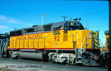 ORIGINAL SLIDE UNION PACIFIC RAILROAD GP40X 92 KCMO SPECIAL TRUCKS 1989