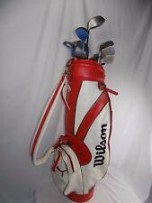 Lot of 17 Wilson Leather golf bag Right-Hand Ram Knight Devastator