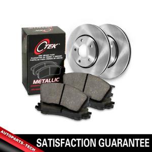 Centric Rear Brake Rotors & Metallic Brake Pads 3PCS For Fiat 124