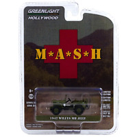 MASH Movie TV Vehicle 1:64 1942 Willys MB Jeep Brand New Greenlight Hollywood