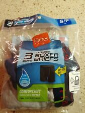 Hanes Boys Tagless Boxer Briefs 2 Pack Comfort Soft Size S 6/8, New, OPENED PACK