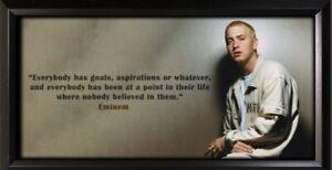Eminem Framed Photo Motivational Poster