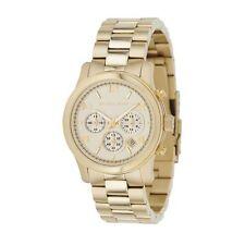 Relojes de pulsera Michael Kors Runway de oro resistente al agua