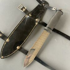 Vintage JAPAN STAINLESS DIVE DIVER KNIFE KNIFE & SHEATH Precise Original Nice!