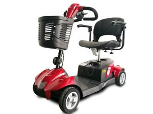 New Ev Rider CityCruzer 4 Wheels Transportable Mobility Scooter, Red