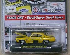1970 Chevrolet Chevelle - Yellow 1:64 Scale M2  Auto Drags