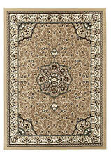 Diamond 4400 Beige - Traditional floral cheap living dining large rug -160 x 220
