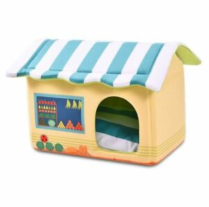 New Pet Dog Cat House Beds Kennel Folded indoor House Tent Mat Cushion Puppy M