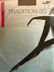 Hudson Tradition 30 Garter-Tights,30 Den, 100% Polyamide, Stockings, Nylons