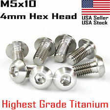 M5x10mm Water Bottle Cage Titanium Ti Bolts Screws 4pcs ISO 7380 4mm Allen