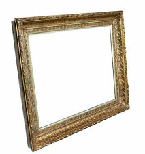 "Large Antique Gold Gilt Picture Frame, 18-1/2"" X 24-1/2 "" Rabbet Size"
