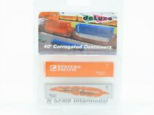 N Scale Deluxe Innovations WP Western Pacific 40' Containers 2-Pack SEALED