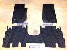2007-2017 Jeep Wrangler Rubber Slush 4 Door Floor Mats Fits: Jeep Wrangler