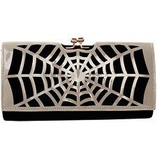 Women's Girls Punk Spider Web Design Fashion Outdoor Evening Clutch Handbag Bag