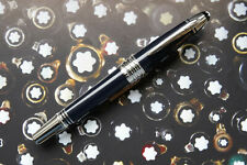 MONTBLANC John F. Kennedy Fountain pen - Navy Blue Resin - 14 K M Nib - Mint