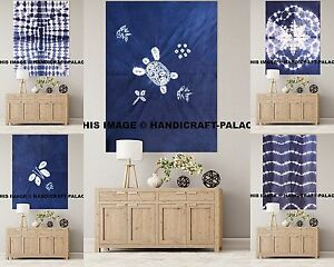 5 PC Wholesale Lot Wall Hanging Small Poster Indian Tie Dye Shibori Tapestry