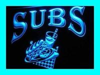 i209-b OPEN Subs Sandwiches Cafe Shop Neon Light Sign