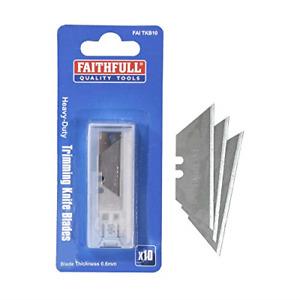 Faithfull FAITKB10 10 Heavy Duty Trim Knife Blades in Dispenser