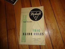 How to Use Trig Slide Rules Pickett Book Manual